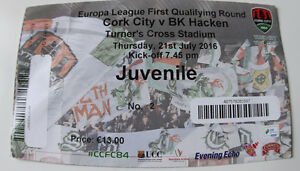 Ticket-for-collectors-EL-Cork-City-BK-Hacken-2016-Ireland-Sweden