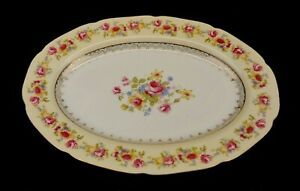 Gold-Castle-Hostess-China-12-Inch-Oval-Platter-White-Vintage
