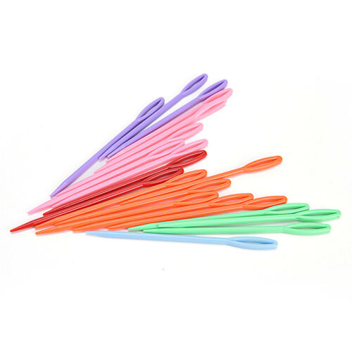 20X Plastic Kid Weave Education Sewing Knitting Tool Cross Stitch Knit Needle TC