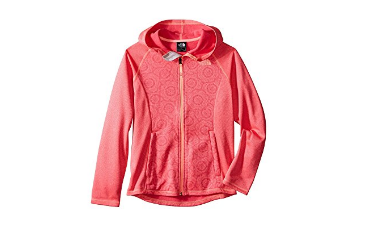 NUEVO THE NORTH FACE SEASHORE FLEECE FULL ZIP CHAQUETA PARA CHICAS S 7-8 W / HOOD FREE SHIP