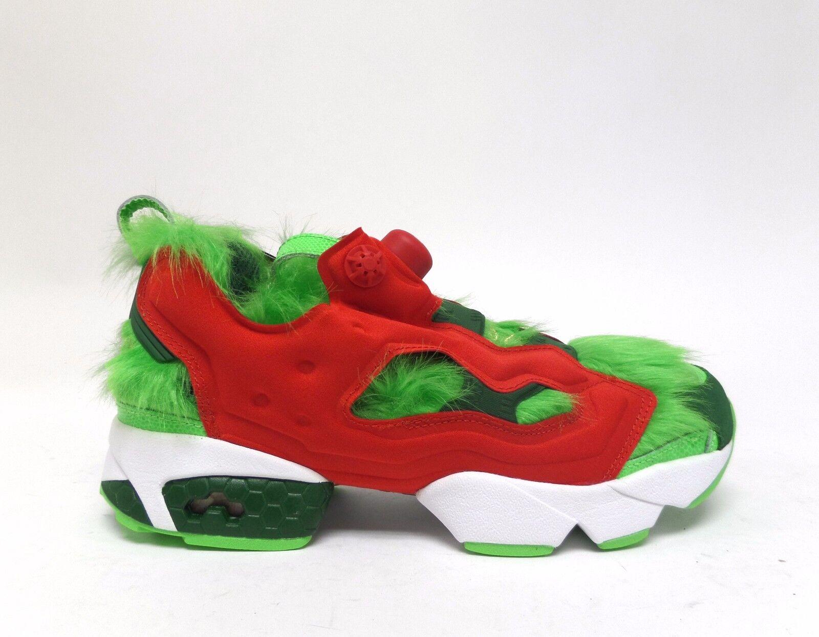 Reebok Men's INSTAPUMP FUYR CV  GRINCH  shoes Semi Solar Green Scarlet BD4758 a
