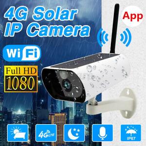 WIFI Wireless 1080P CCTV IP Camera System GSM 4G SIM Solar Powered Outdoor