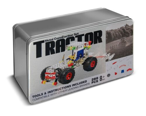 Tractor Metal Construction Set Tin Gift 269 Pieces Compatible