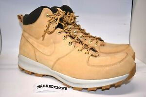 NEW-Nike-Manoa-Leather-Haystack-Haystack-Velvet-Brown-454350-700-Size14-SHE051