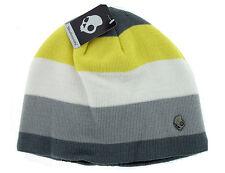 Skullcandy Zipatron Audio Speaker Beanie Hat Yellow Grey White Brand New