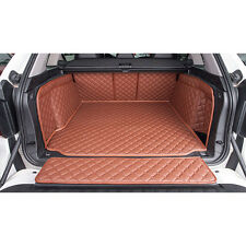 Brown For BMW X5 2007-2013 Trunk Boot Mats Cargo Liner Car Mats Carpets Set Kit