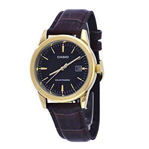 5ff6a71d72e1 La foto se está cargando Casio-MTP-VS01GL-1A-Hombre-Cuero-Fecha-Reloj-