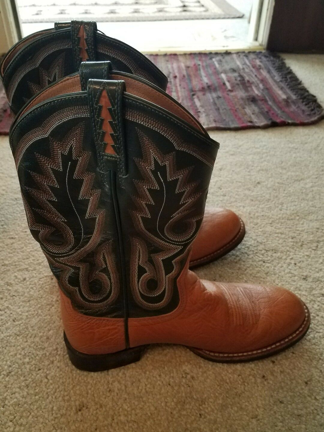 Ariat 17430 Cowgirl rodeo boots 7 B green brown excellent condition