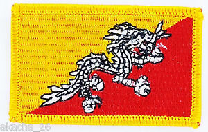 Patch Ecusson Brode Drapeau Bhoutan Insigne Thermocollant Neuf Flag Patche Ox8bo0u8-08002707-841849914