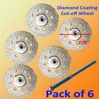 5+1 Rotary Tool Accessory Fits Rotary Power Tool Diamond Cut Off Wheel Disc