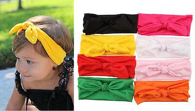 Kids Bunny Rabbit Ear Lovely Headwear Baby Girl Children Hair Band Bow Accessory