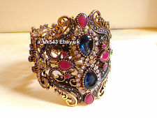 Bolywood Ethnic Jewellery,Cuff Bangle,Slave Bracelet,Polki Indian Bracelet,Kada