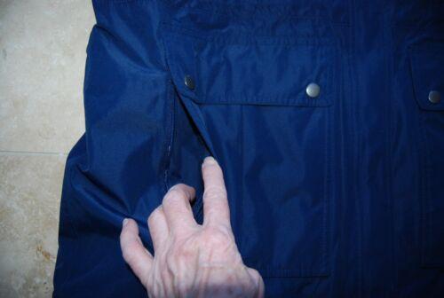 Nwt Navy Blue Front Lined Snap Coat Eddie Zip Fleece Hooded Bauer 1x ffrqZdw