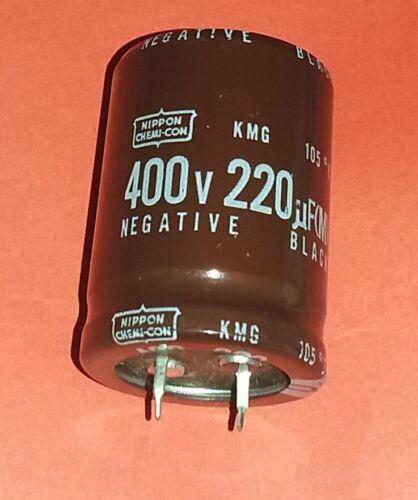Nippon Chemi-Con  220uF 220µF 400V 105 C KMG Series Qualität 2x org