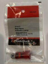 Red Neon Indicator Lamp Snap In Super Bright 50 Lux 273 0001 Radioshack Nip