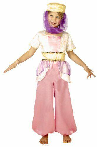 Girls Arabian Princess Costume / Fancy Dress Jasmine Outfit Aladdin Age 8-10