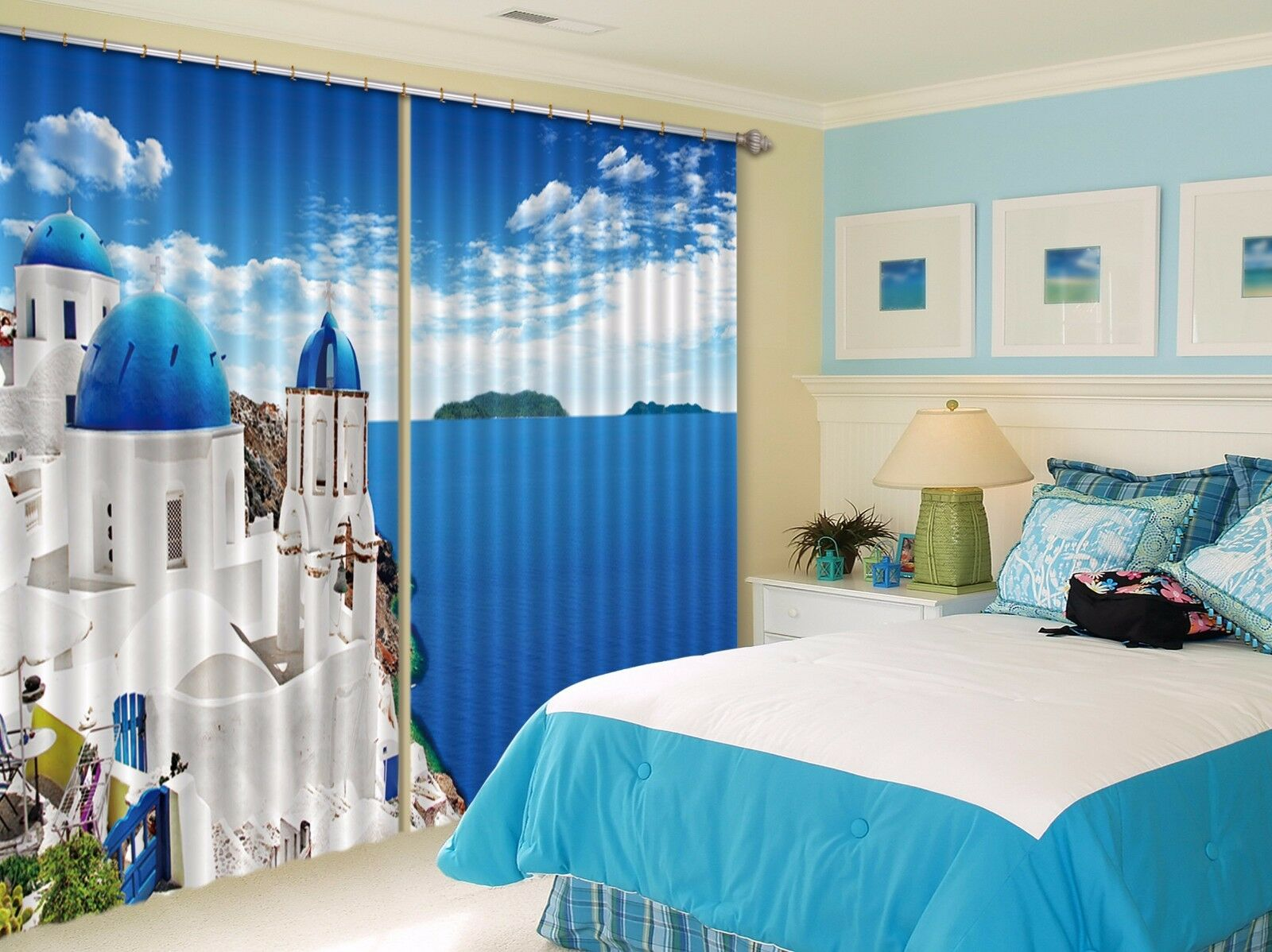 3D Halmet Mar 9 Cortinas de impresión de cortina de foto Blockout Cortinas Ventana De Tela nos