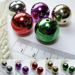 XL-Perle-KUGEL-20mm-FARBWAHL-Acryl-CCB-METALLIC-Glanz-Weihnachten