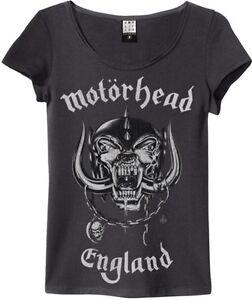 Amplified - Motörhead England Logo Damen T-Shirt (Grau) (S-XL)