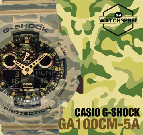 1 of 1 - Casio G-Shock Big Bold Case of GA-100 Camouflage Series Green Watch GA100CM-5A
