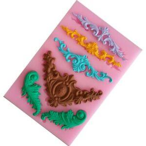 Vintage-Relief-Baroque-Silicone-Fondant-Mould-Cake-Border-Decor-Sugar-Paste-Mold