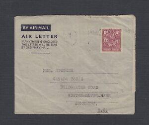 NORTHERN-RHODESIA-1952-6D-AEROGRAMME-SLOGAN-CANCEL-NDOLA-TO-SOMERSET-UK