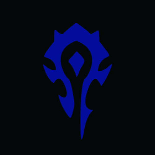 "6/"" HORDE LOGO Vinyl Decal Sticker Car Window Laptop World of Warcraft Alliance"