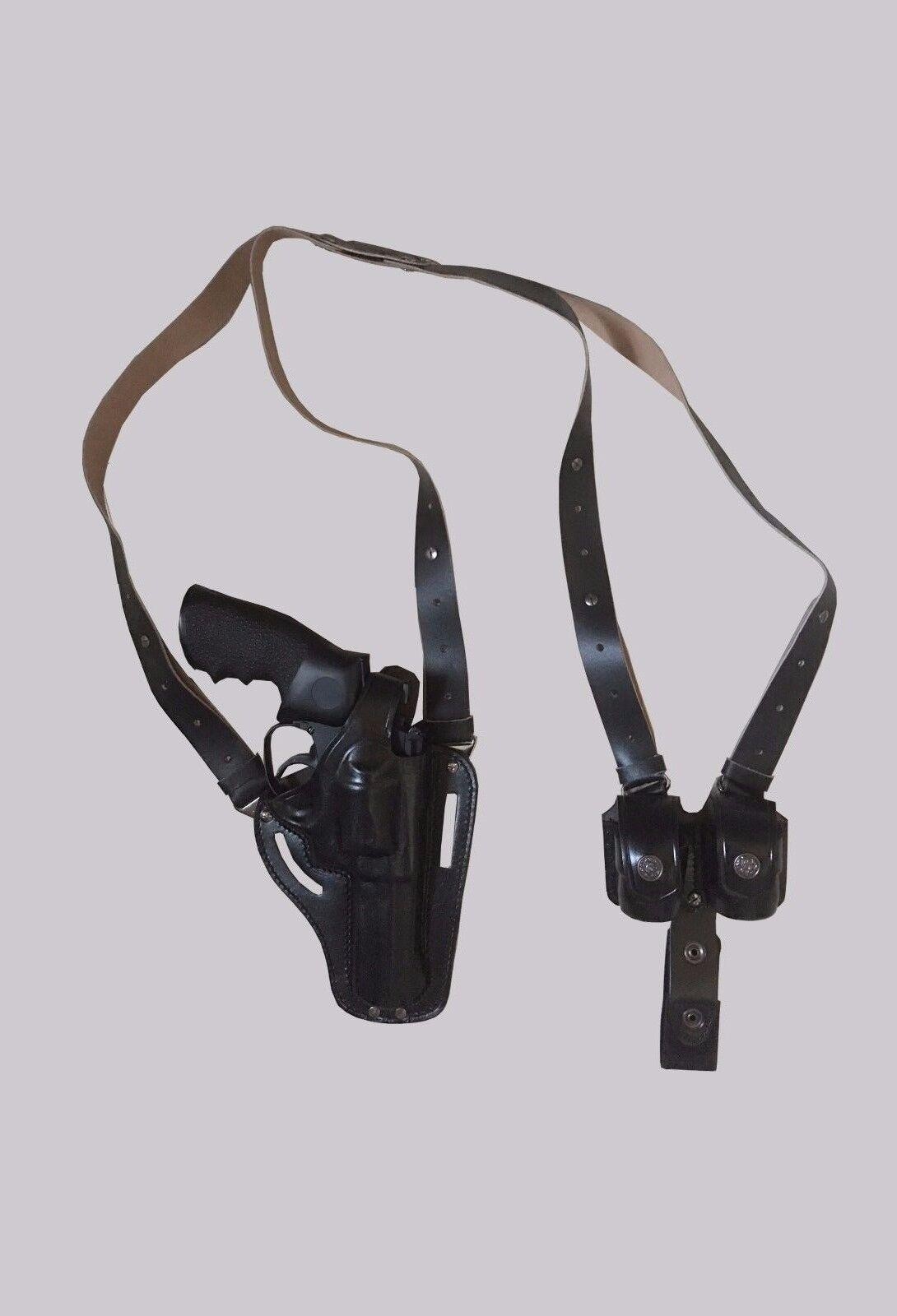 Funda de hombro y cinturón KHS305-SW con Bolsa Speedloader doble S&W 686 (2in1)
