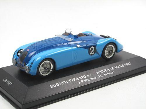 IXO MODELS 1 43 bugatti type 57g  winner le mans 1937 lm1937