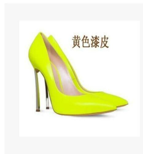 Womens Stilettos Shoes Pointy Toe Patent Leather High Metal Heels Party Pumps SZ