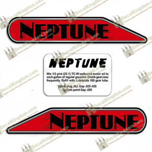 SincèRe Neptune Outboard Boat Decals A1, Aa1, B1, 11a4 Models Different Sizes Available