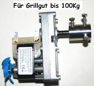 Grillmotor-230V-AC-Wechselstr-Getriebemotor-2-1-U-min-bis-100-Kg-Grillgut
