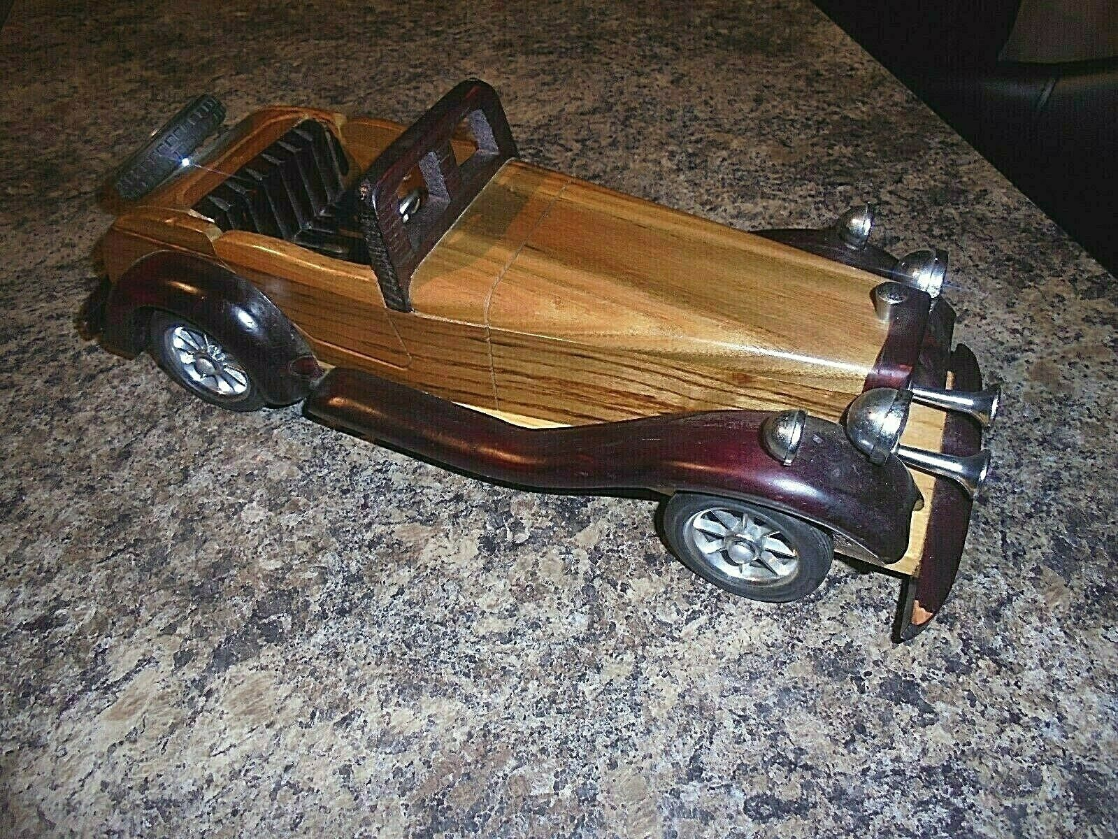 VINTAGE HAND MADE WOODEN CAR