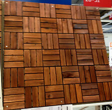 IKEA 9 X 30x30 Cm Wood Tiles Patio Tile Acacia Floor Balcony
