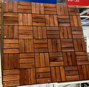IKEA 9 x 30x30 cm MATTONELLE DI LEGNO PIASTRELLE TERRAZZO acacia da ...