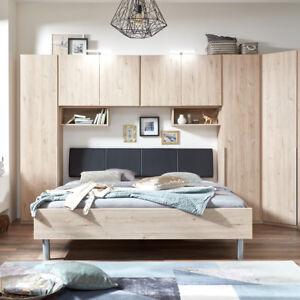 bettbr cke new york a bett berbau berbauschrank kleiderschrank in eiche hell ebay. Black Bedroom Furniture Sets. Home Design Ideas