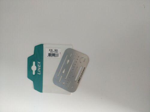 Lined Stencil Vintage ES30 Denmark Credit Card Size