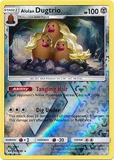 Alolan Dugtrio -REVERSE HOLO FOIL Rare Pokemon (87/149) Sun and Moon