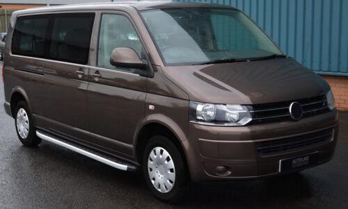 2004-15 Placas de correr ALU lado pasos barras para adaptarse a LWB Volkswagen Caravelle