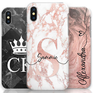 PERSONALISED-PINK-MARBLE-PHONE-CASE-HARD-COVER-CUSTOMISED-WITH-INITIALS-NAME