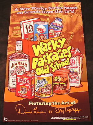 """2008 Topps Wacky Packages Flashback Series 1 /""""ON SALE HERE/"""" POSTER 10.5 x 17"""