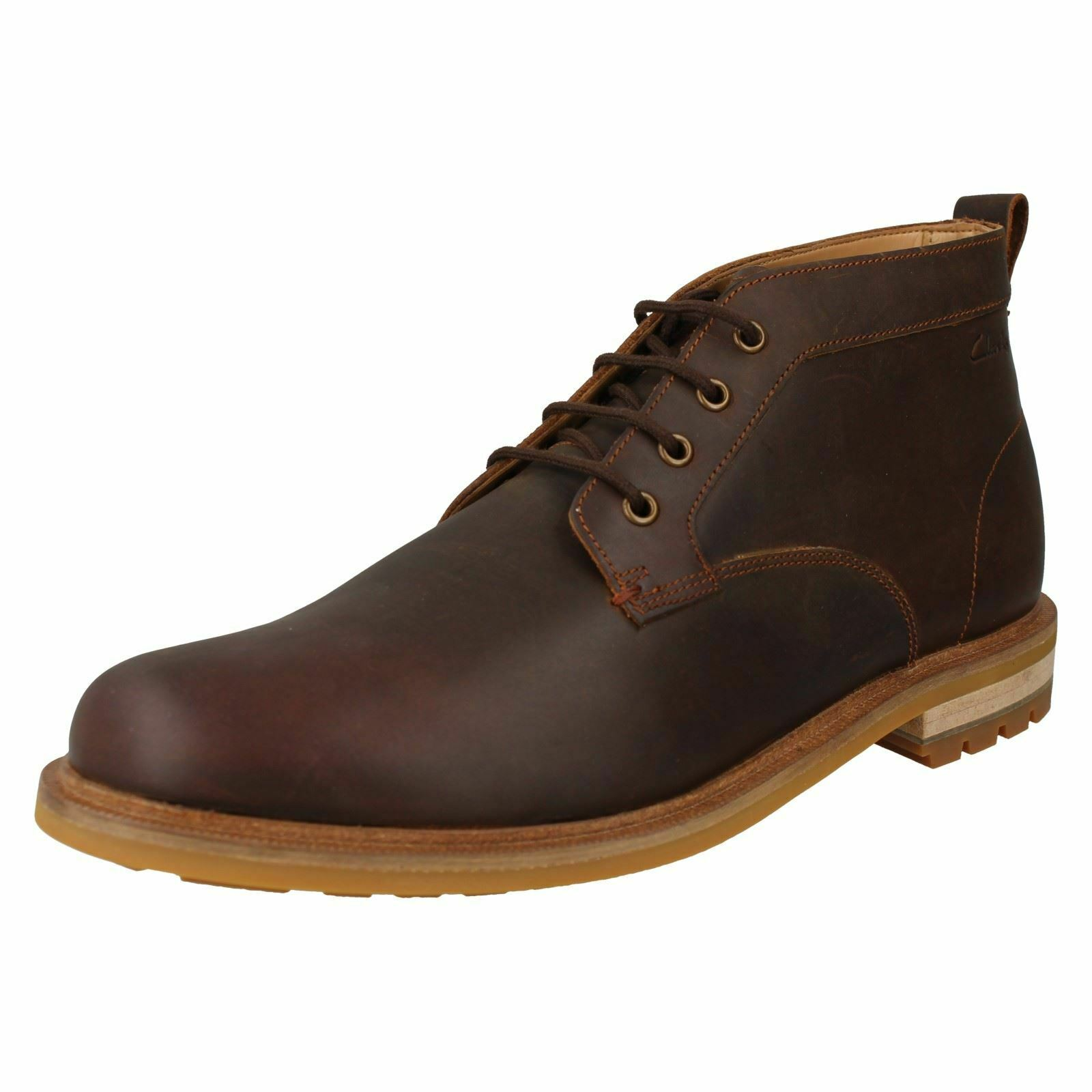 Mens Clarks Lace Up Casual Ankle Boots Foxwell Mid
