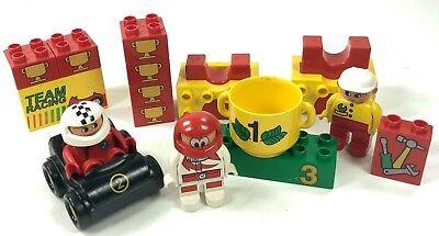 Rare Lego Duplo TROPHY AWARD CELEBRATION BLOCK for RACE CAR HORSE  PRINTED BLOCK