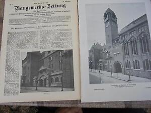 1911 Baugewerkszeitung 32/berlin Charlottenburg Double école Partie 2-ung 32 / Berlin Charlottenburg Doppelschule Teil 2 Fr-fr Afficher Le Titre D'origine Et Aide à La Digestion