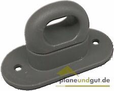 10 x Drehverschluss für Ovalösen 42x22 mm anthrazitgrau Ovalöse Anhänger Plane