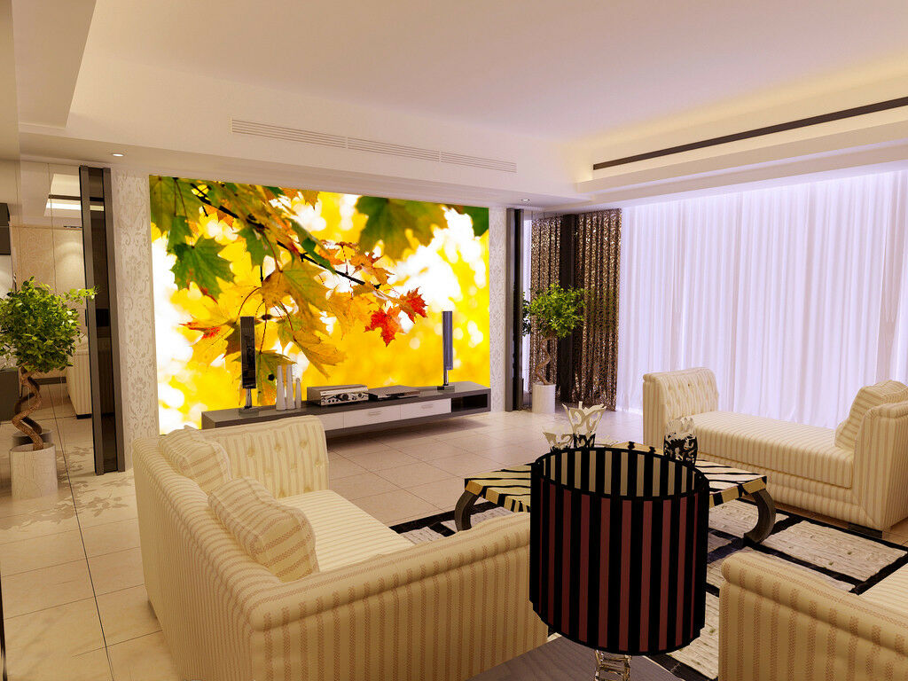 3D Sunny Maple 779 Wallpaper Mural Paper Wall Print Wallpaper Murals UK Lemon