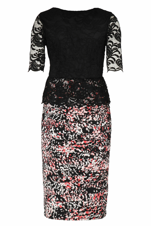 NEW Bonmarche David Emanuel Signature Lace Peplum Dress UK10