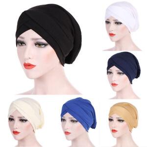 Women-Muslim-Turban-Hat-Head-Wrap-Stretchable-Chemo-Hijab-Cap-Fashion-Headwrap