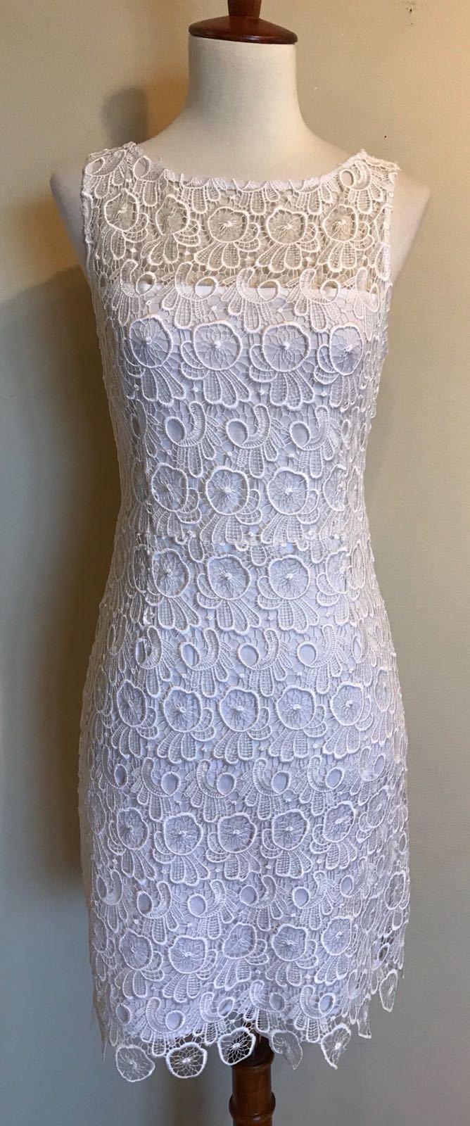 BB Dakota Morrow Lace Sheath Dress, Ivory, Size 2