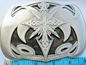 American Indian Design Belt Buckle Giant Size.